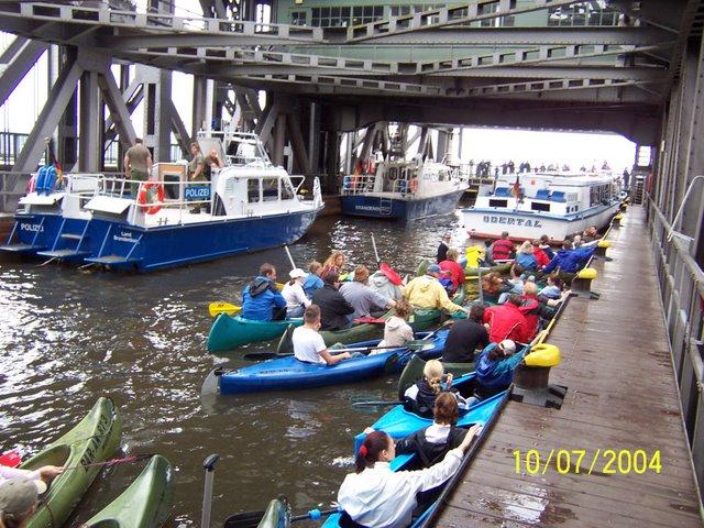 Schiffshebewerk Niederfinow Kanu 02