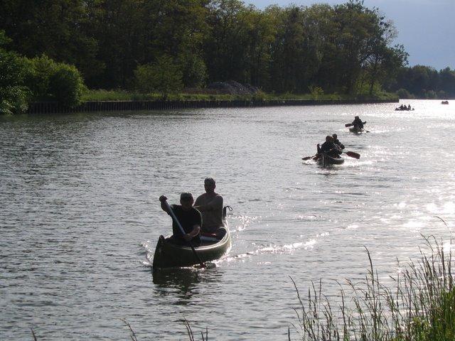 Schiffshebewerk Niederfinow Kanu 10